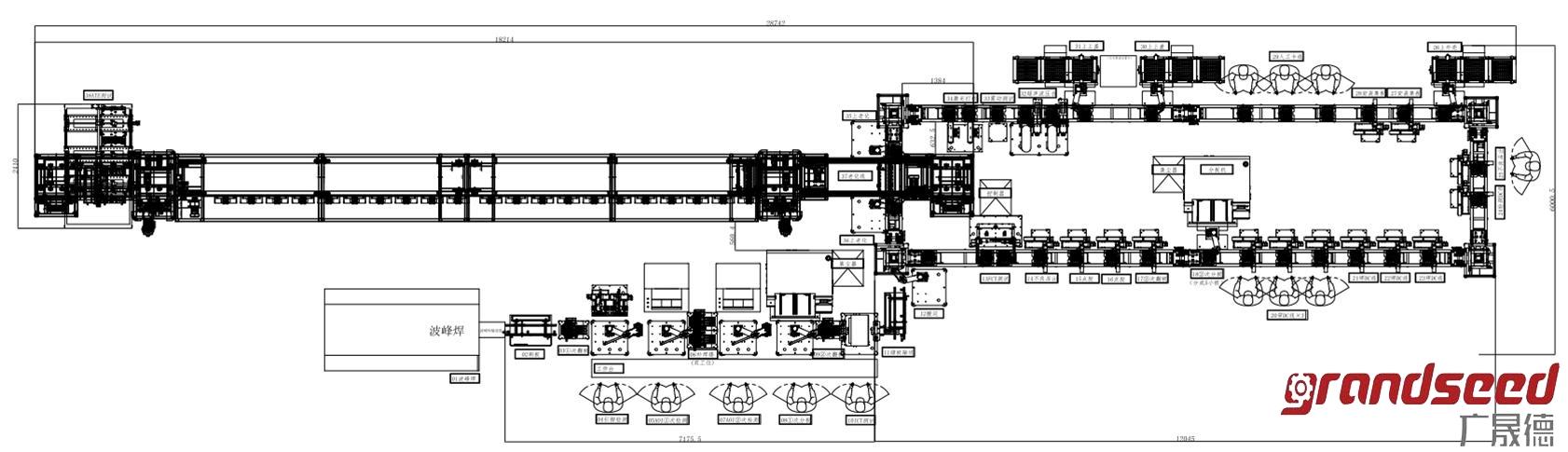 电源自动化生产线工程图
